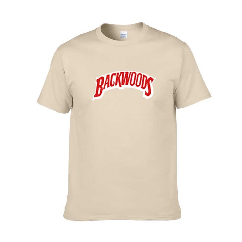 BACKWOODS Yeni Yaz Erkekler baskı T Shirt Moda Erkekler Kısa Kollu O Boyun T-Shirt Pamuk Hip Hop Rock Streetwear Erkekler giyim