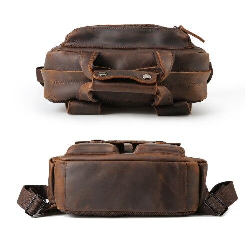 Для мужчин Weekender сумка большой enuine кожа рюкзаки повседневное стиль Carry On дорожные сумки мужской коричневый прочный рюкзак - 5