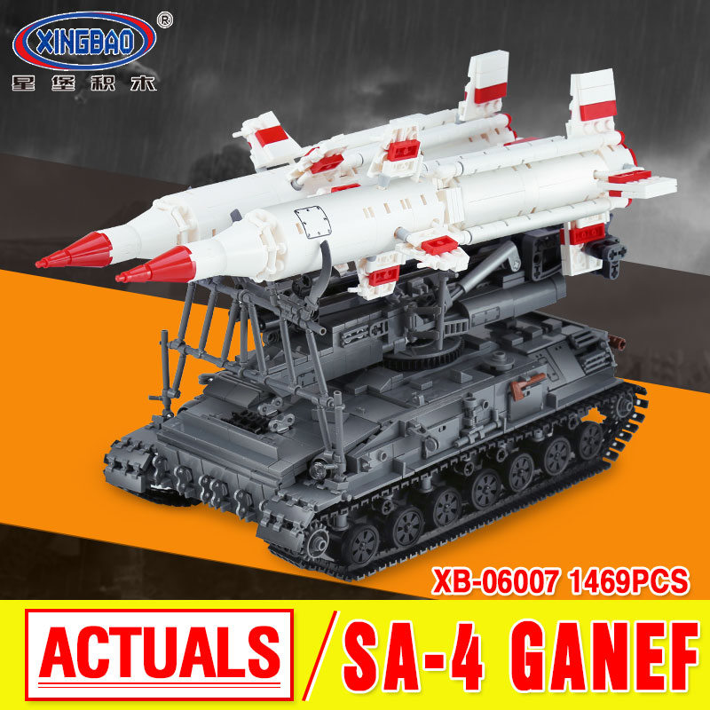 Xingbao 06007 1469Pcs Military Series The SA-4 Ganef Set Building Blocks DIY Bricks Children Educational Boy`s Toys Model Gifts ninjago juguetes military series armed helicopter blocks decool plastic diy educational bricks building model toys for children