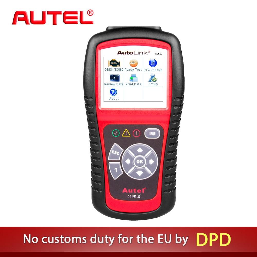Autel AutoLink AL519 OBD2 Scanner Car DTC Reader Escaner Scan AL-519 OBDII Auto Diagnostic-Tool OBD 2 II Scanner PK MS509