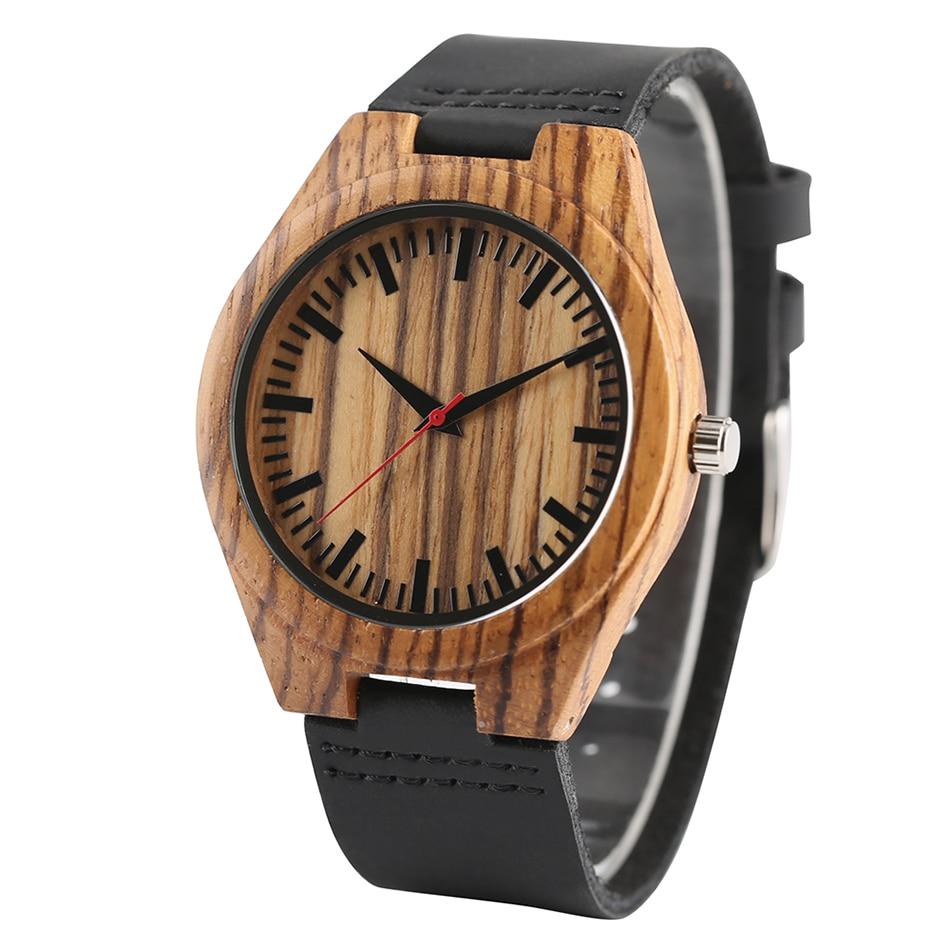 Novi Dolazak Kreativni Moda Poklon Pravi Koža Band remen Priroda - Muški satovi