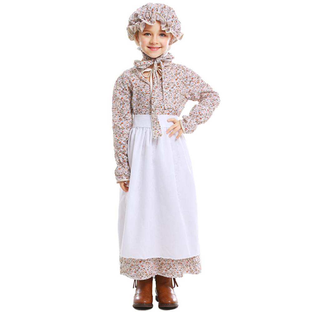 Cosplay European Farm Uniforms Maid wear Fairy Tales Wolf Grandma Games Girls Dresses Halloween Children's Day Costumes image