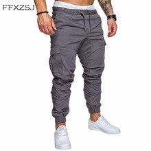 FFXZSJ, брендовые Мужские штаны, хип-хоп, шаровары, джоггеры,, мужские брюки, мужские, s, джоггеры, одноцветные, с несколькими карманами, спортивные штаны, 4XL