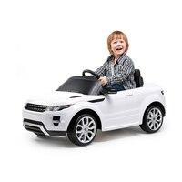 В 6 в лицензионный Электрический езды на игрушечном автомобиле Range Rover Evoque Электрический четыре колеса автомобиля батарея питание езды роди