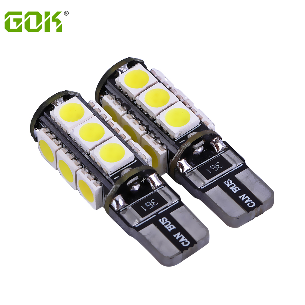 External Lights 2 x Error Free T10 led Canbus 13smd 5050 Led W5w led canbus 194  t10 13Smd Light Car Light Source parking 12V 100pcs lot t10 5 smd 5050 led canbus error free car clearance lights w5w 194 5smd light bulbs no obc error white