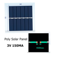 Mini Polycrystaline Silicon Solar Panel 3V 150MA for Intelligence DIY toy power generation board with DC