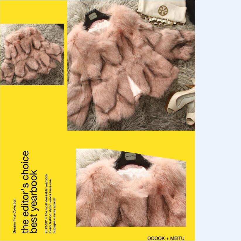Arrivée Réel Wholesal Naturel Nature Sortie Chewies Plus Manteau pink Fourrure Magasin D'usine Renard Veste Femmes D'hiver khaki Véritable Plus Nouveau Plus Nouvelle De 5 Oversize 23 qZdC5d