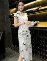 Vestuário Chinês tradicional Cheongsam Cheongsam Seda Qipao Fino Do Vintage Feminino