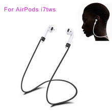 New Silicone TWS Anti-lost line for AirPods Earphone Anti Lost Strap Rope for i7 i9 i12 i10 TWS Headphone Headset Accessories(China)