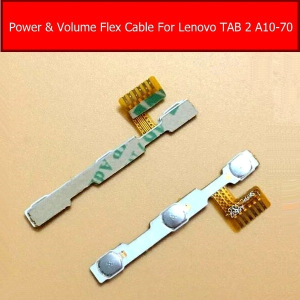 Genuine Power & volume Flex cable For Lenovo Tab 2 A10-70 Audio Control connector side key Switch Button Connector flex Cable