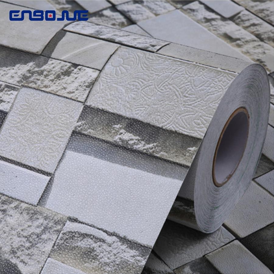 0.4x3M Modern 3D Wallpaper Vinyl Brick Pattern Bathroom Kitchen Waterproof Home Decor Wall Sticker Wallpapers For Living Room