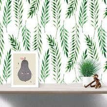 30pcs Nordic Simplicity Green Leaf Wall Stickers Fresh Background Wall Decoration Sofa Bedroom Study Background Decoration high quality fresh green potted shape removeable wall stickers