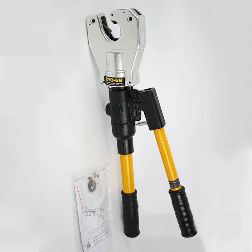 CYO-6B Safety Hydraulic crimping tool 10-240mm2 for cable wire lug crimping pliers hand dieless hand tool set syk 8b hydraulic cable cutter tool hydraulic crimping tool