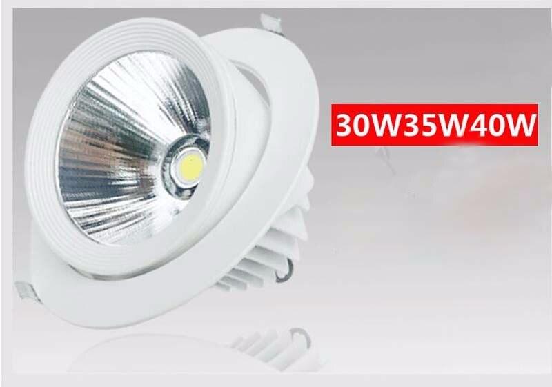 LED Downlight 35 W 45 W plafonnier Dimmable réglable rotatif LED lumière de tronc cardan Ac85-265v Direction LED Spot - 6