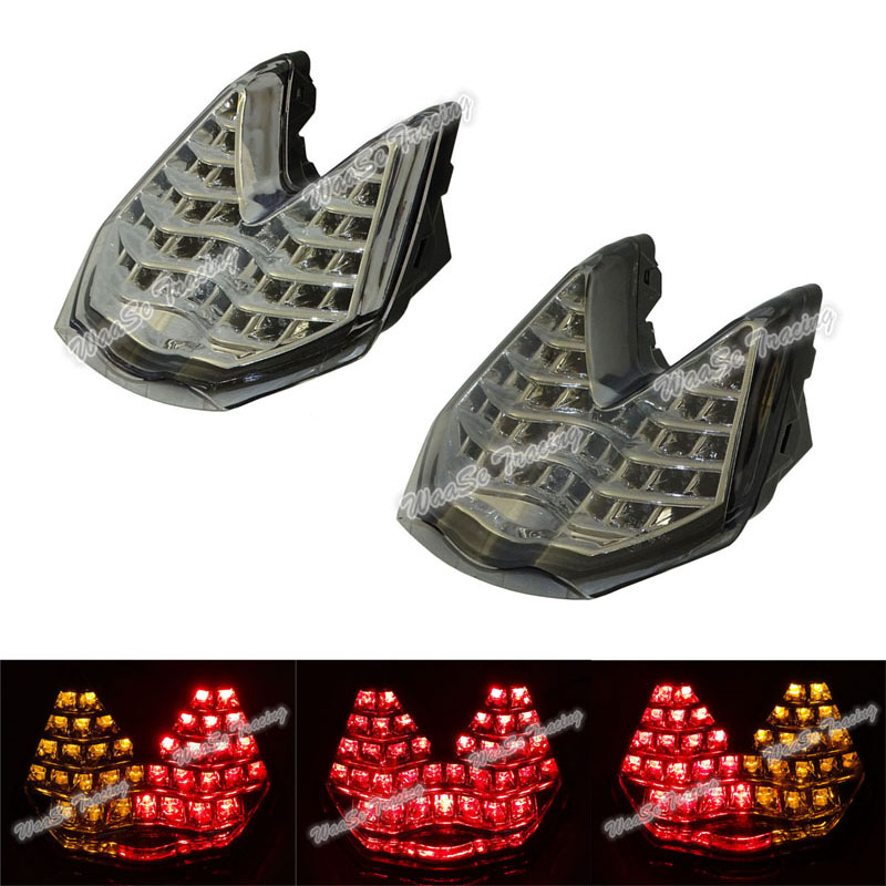 waase Rear Taillight Tail Brake Turn Signals Integrated Led Light Lamp For 2007 2008 2009 2010 2011 2012 2013 2014 KTM 690 Duke for geely mk1 mk2 rear taillight brake lights turn signals light