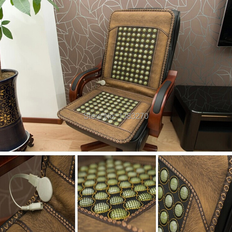 Health care orcher Boss chair cushion cover Jade heating mattress germanium stone cushion cervical spine benefits office workers new heating jade stone infrared massage sofa cushion with temperature display bed sofa mattress health care germanium stone mat