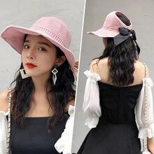 Ковбойская Шляпа Пляжная Соломенная шляпка Женская Летний капюшон шляпа летняя девушка широкополая шляпа
