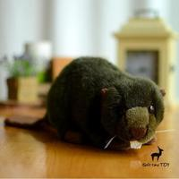 Plush Stuffed Animals Toys Real Life Cute Beaver Doll Child Puzzle Toy Good Quality Present