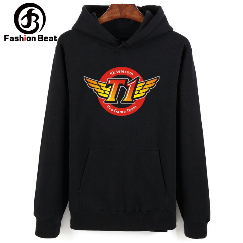 Mens/womens Hoodies Skt T1 Print Cotton Hooded Sweatshirts Faker Clothing Game Lol Long Sleeve Unisex Cosplay Jacket Men's Clothing