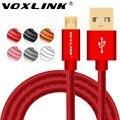 Voxlink cabo micro usb 0.5 m 1 m 2 m 3 m de dados usb de carregamento rápido cabo para o telefone android samsung s7 s6 edge plus htc lg xiaomi sony