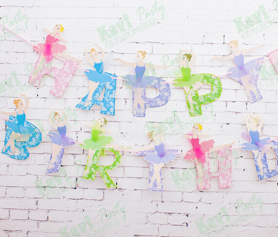 Aliexpresscom Buy Party Garland Ballerina Girl Birthday Flags