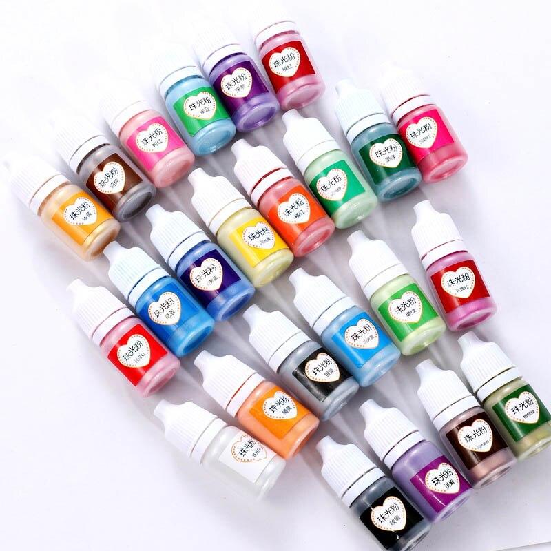 Hot Crafts Pigment Powder Pearlescent Mica UV Resin Epoxy Powder DIY Crafts Accessories MSK66