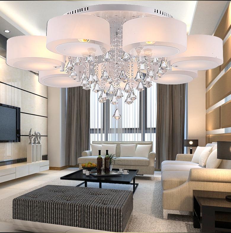 Koop moderne minimalistische woonkamer kristallen lamp led verlichting plafond - Kleine moderne woonkamer ...