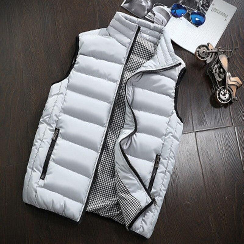 Mens Jacket Sleeveless Vest Winter Fashion Casual Slim Coats Brand Clothing Cotton-padded Men Vest Men Waistcoat Big Size Nz691 #4