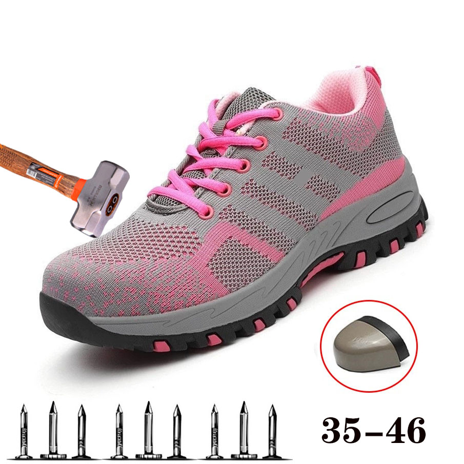 Womens Safety Shoes Outdoor Unisex Breathable Deodorant Ladle Work Shoes Casual Construction Protective Shoes Womens BootsWomens Safety Shoes Outdoor Unisex Breathable Deodorant Ladle Work Shoes Casual Construction Protective Shoes Womens Boots