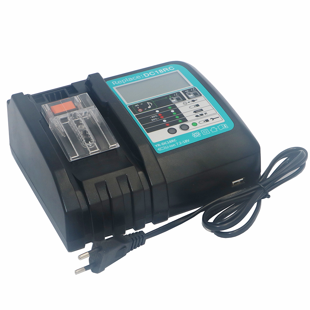 Doscing Li ion Battery Charger Replacement Power tool Battery LCD Screen Charger for Makita BL1830 Bl1430