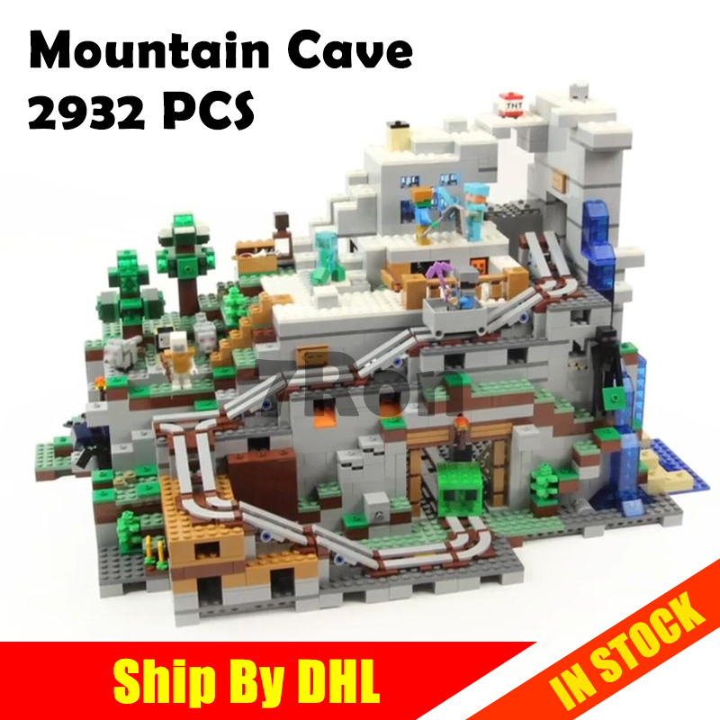 18032 Model Building Kit Blocks Bricks Miniecraft 2932pcs The Mountain Cave My worlds Compatible with lego 21137 toys hobbies