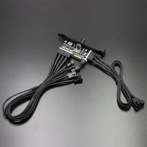 Komputer wspornika PCI mocy 12V 3pin/4pin piasty wentylatora 8 kanałów PC chłodnica regulator prędkości wiatraka dla procesora skrzynki HDD VGA wentylator PWM