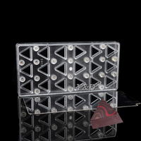 Quality Triangle Triangular Shaped Hard Plastic Polycarbonate Magnetic Magnet Transfer PC Chocolate Mold With Steel Sheet Plate