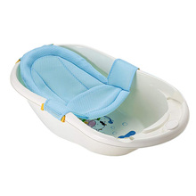 Baby Bath tub Mat Infant Shower Sponge Cushion Cartoon Newborn Nets Bathing