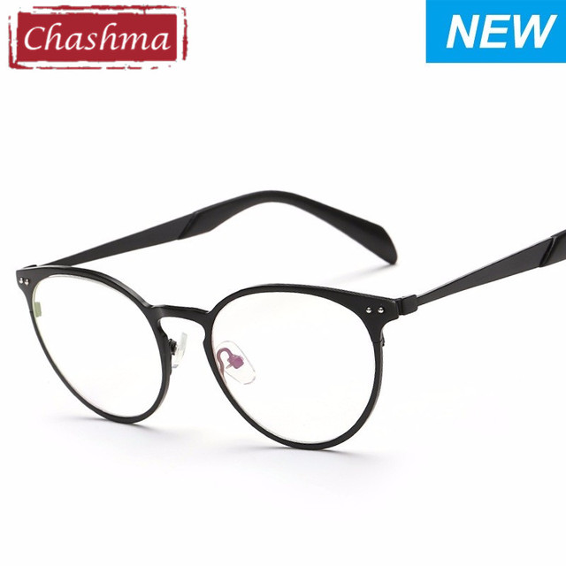 55a6d253029f3 Chashma Novos Óculos Frame Retro Estilo Coreano Liga Material Óculos de  Miopia Armação de Óculos Redondos
