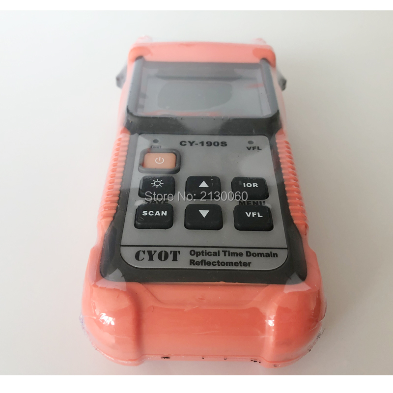 Free Shipping CY-190S SM 60KM 1310nm+1mW VFL Fiber Find Fault Tester, Handheld OTDR Optical Time Domain Reflectometer