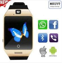 Moda Q18S Bluetooth relojes inteligentes enchufe independiente tarjeta SIM teléfono inteligente relojes PK DZ09 GT08 A1 GV18