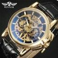 Ganador 2016 Navigator Series Hombres Relojes de Primeras Marcas de Lujo Mecánico Esquelético Del Reloj Del Reloj de Los Hombres Relojes de Oro Hombres Reloj Montre