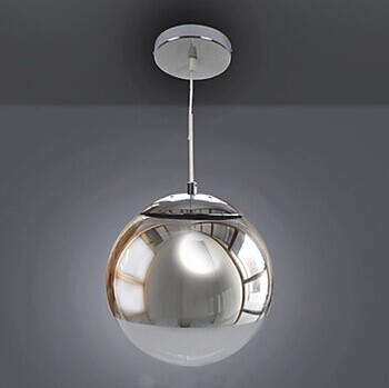LED Modern Handing Luminaire Pendant Light Lamps in Metal Globe Feature,E27 Bulb Included,For dining room living room
