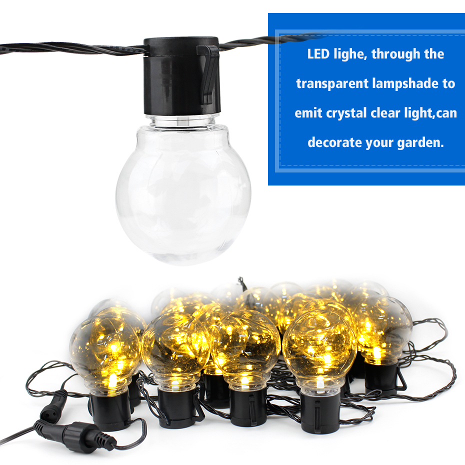 6M LED Globe Bulb String Light Warm White/White/RGB Outdoor Waterproof Fairy Lights Christmas Tree Lights For Outdoor Decoration image