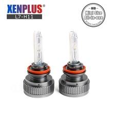 Xenplus 2 шт ксеноновые HID фары X1 9005 9006 9012 H1 H3 H7 H8 H9 H11 hid лампы Противотуманные фары автомобильные лампочки все в одном мини размер