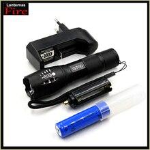 CREE XM-L2 XML T6 Фонари Перезаряжаемые факел мощный светодиодный фонарик Масштабируемые Водонепроницаемый AAA + 18650 Батарея лампа ручной свет