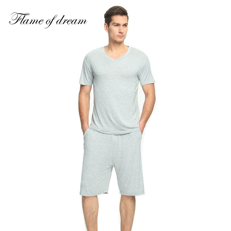 Pajamas Sleepwear Nightwear Men Mens Short-Sleeve Modal