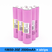 6pcs Original INR18650-35E with pointed 3500mah 13A inr18650 35e for 18650 35e e-bike flashlight  battery with pointed no PCB SE