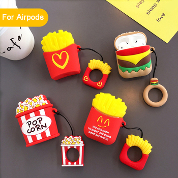 Case For AirPods 2 Bluetooth Wireless Earphone Case Cartoon Charging Box Case For Apple Airpods Air pod Protect Cover With Hooks