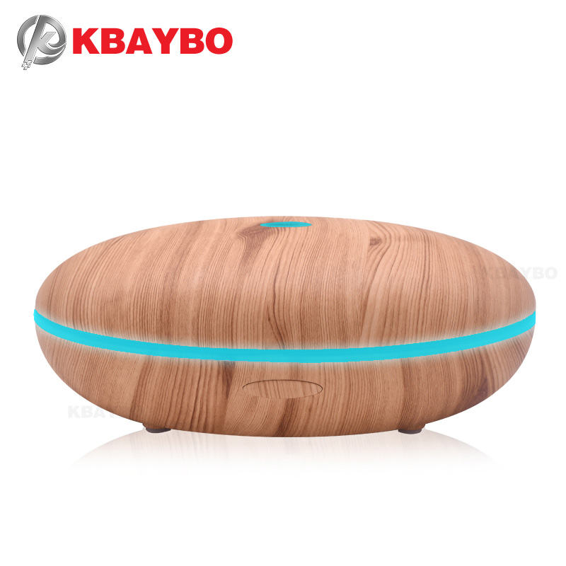 500ml Aroma Diffuser Aromatherapy Wood Grain Essential Oil Diffuser Ultrasonic Cool Mist Humidifier for Office Home aroma oil diffuser ultrasonic humidifier remote control 10s 2h 4h timer 500ml tank lamp wood ultrasonic humidifiers for home