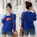 2014 New Arrival Autumn Winter Casual Cute Women T-shirt   Logo Print Round Neck Long Sleeves T-shirt Tops 50
