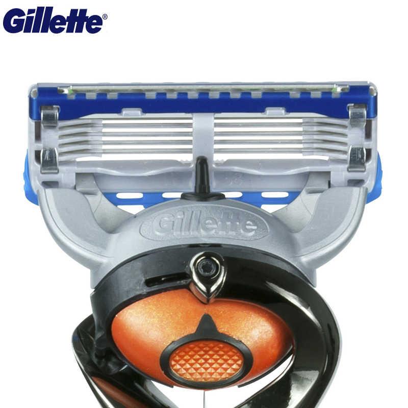 Gillette Blades Kekuatan Pria Razor Hitam Pegangan + 1 Blade dengan Fusion5 dengan Flexball Teknologi dengan 5 Anti gesekan Pisau