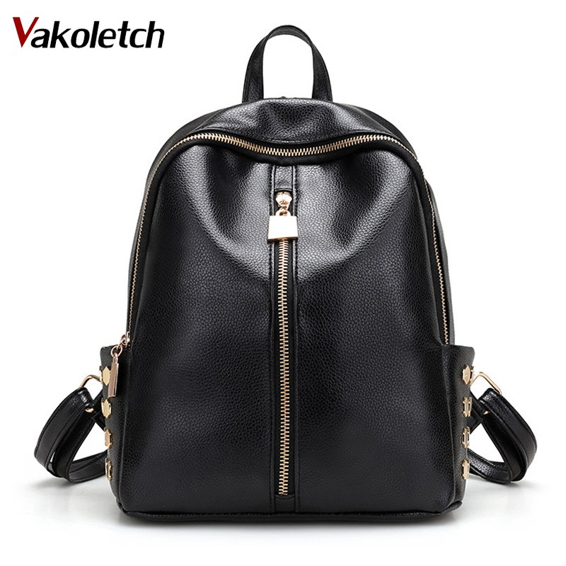 2018 Small Style Rivet Bag Student's School Backpacks Bolsas Women Backpacks Ladies Travel Bags PU Leather Backpack KL156 toposhine small rivet women backpacks fashion pu leather women shoulder bag rivet small ladies backpack girls school bags 1751
