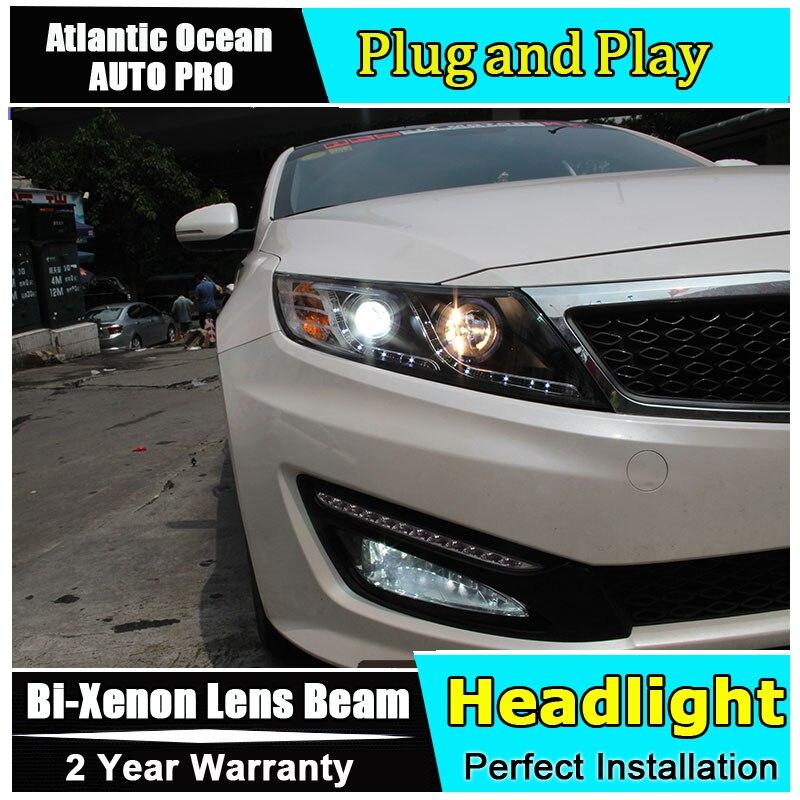 Car Styling for Kia K5 Headlights 2011 2014 for optima LED Headlight DRL Lens Double Beam
